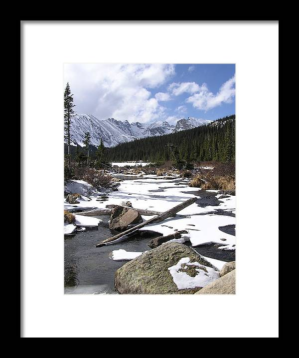 Continental Divide Framed Print featuring the photograph Early Winter At Long Lake by John Myers