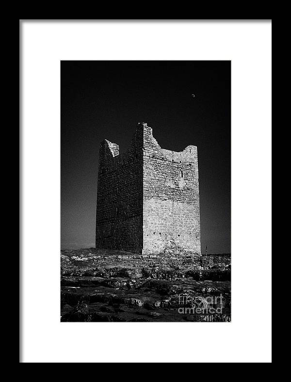 Europe Framed Print featuring the photograph Easkey Castle Roslea Roslee Odowds County Sligo by Joe Fox