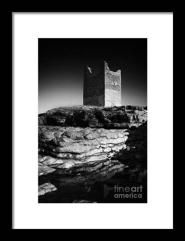 Europe Framed Print featuring the photograph Easkey Roslee Roslea Castle County Sligo Ireland by Joe Fox