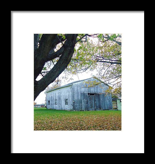 Barn Framed Print featuring the photograph Eastside Of Barn by Michelle Young