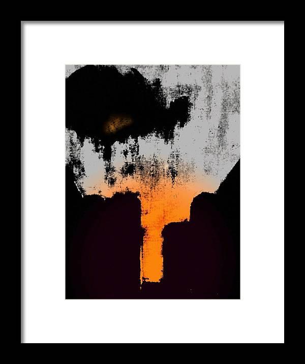 Abstract Framed Print featuring the digital art Echo by Joseph Ferguson