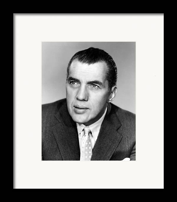 1950s Portraits Framed Print featuring the photograph Ed Sullivan 1901-1974, American Writer by Everett