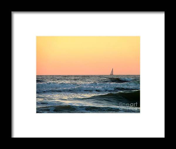 Sunset Framed Print featuring the photograph Edge Of The Ocean by Michael Garyet