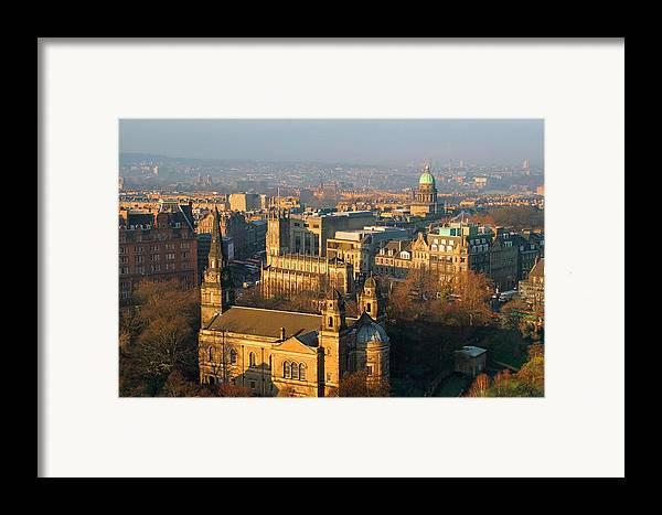 Edinburgh Framed Print featuring the photograph Edinburgh On A Winter's Day by Christine Till
