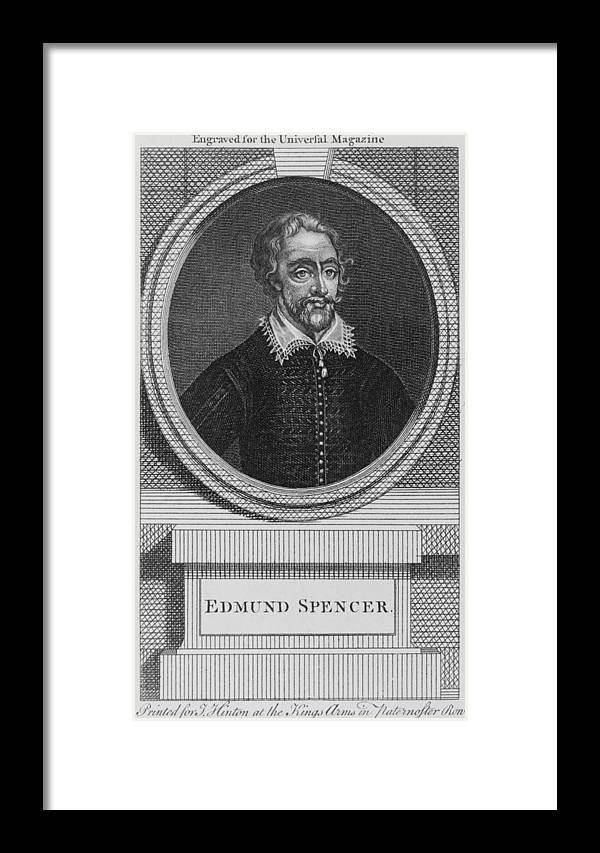 History Framed Print featuring the photograph Edmund Spenser 1552-1599 English Poet by Everett