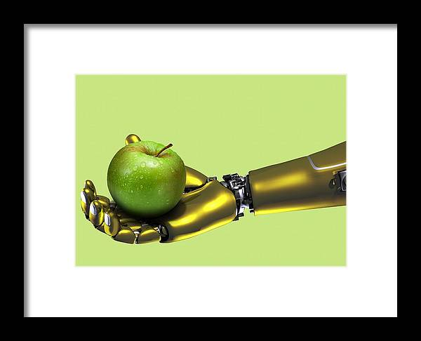Fruit Framed Print featuring the photograph Educational Robot, Artwork by Victor Habbick Visions