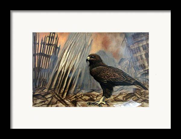 War Framed Print featuring the painting Either Peace Or War by Sandra Chase