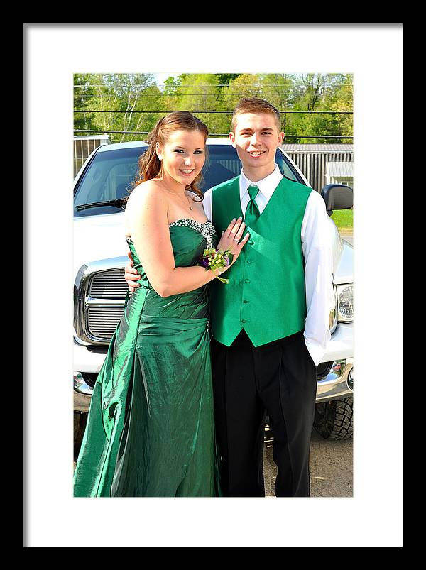 Framed Print featuring the photograph Elaine And Zac With The Truck by Casey Riitano