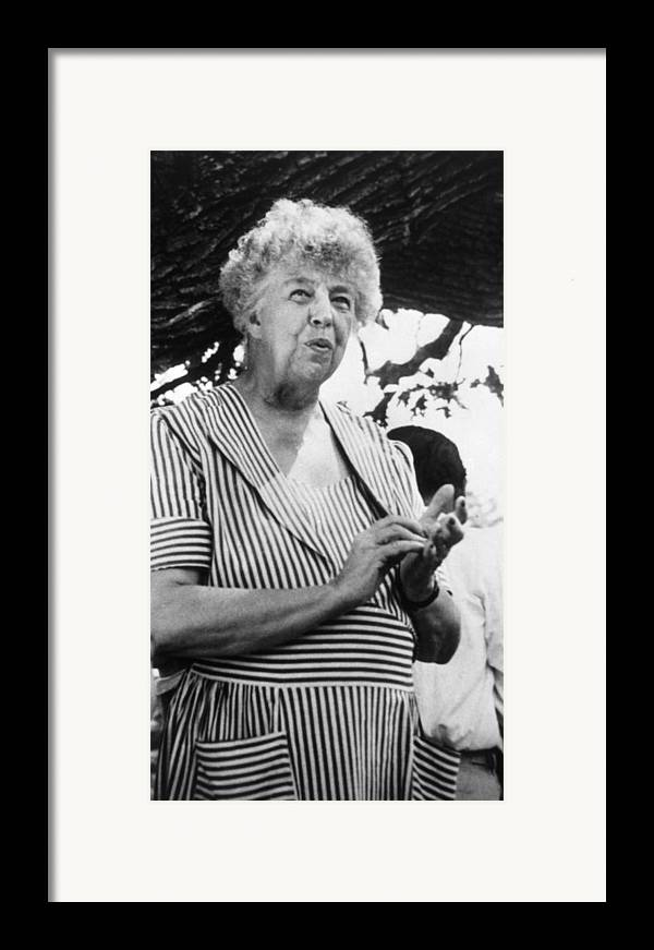 1950s Portraits Framed Print featuring the photograph Eleanor Roosevelt 1884-1962, First Lady by Everett