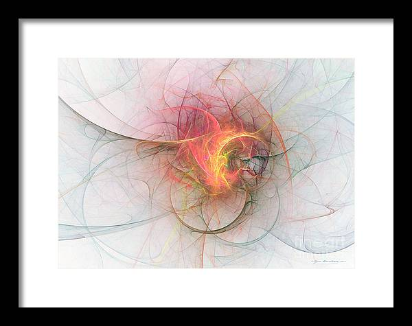 Abstract Fine Art Framed Print featuring the mixed media Electric Blossom - Abstract Art by Abstract art prints by Sipo