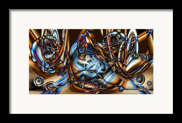 Gradient Framed Print featuring the digital art Electric Blue by Ron Bissett