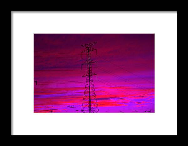 Electric Dreams Framed Print featuring the photograph Electric Dreams by Ed Smith