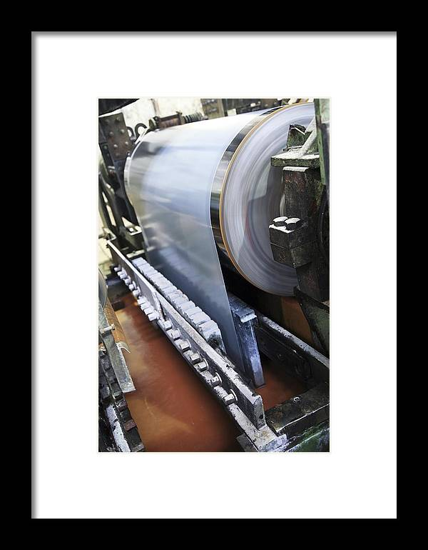 Steel Framed Print featuring the photograph Electric Galvanising Of Steel by Ria Novosti