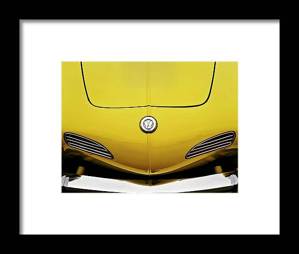 Volkswagen Framed Print featuring the digital art Electric Karmann by Douglas Pittman