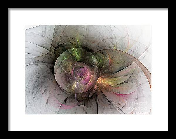Abstract Fine Art Framed Print featuring the mixed media Elegant Beauty - Abstract Art by Abstract art prints by Sipo