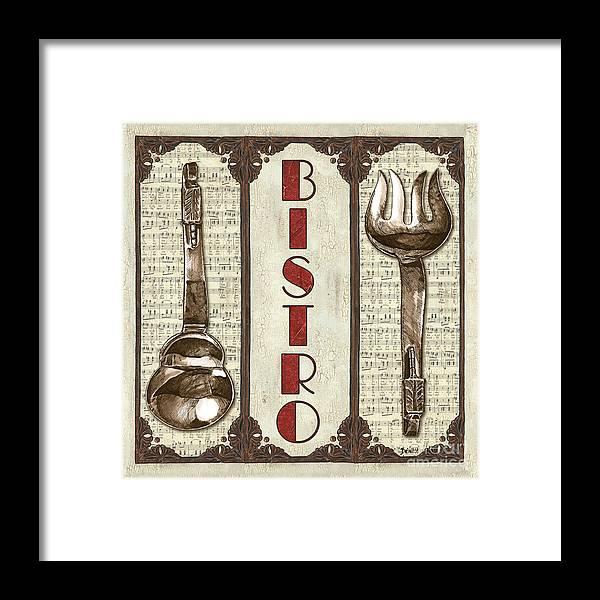 Bistro Framed Print featuring the painting Elegant Bistro 1 by Debbie DeWitt