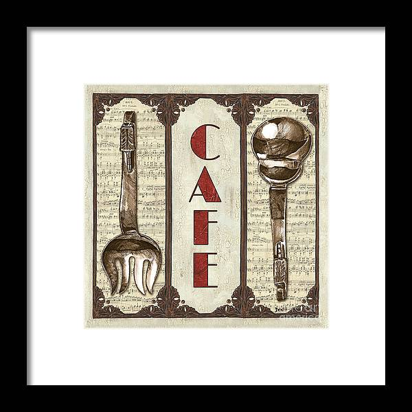 Cafe Framed Print featuring the painting Elegant Bistro 2 by Debbie DeWitt