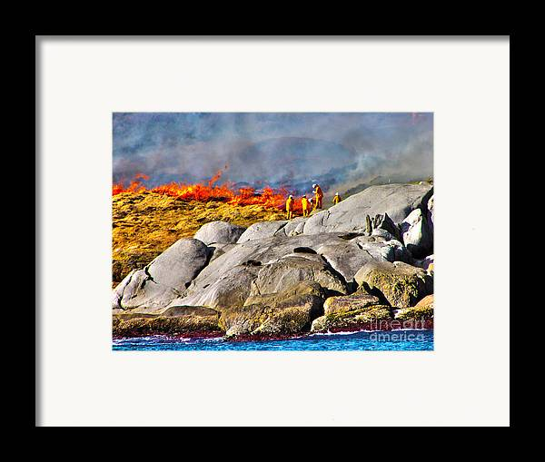 Fire Framed Print featuring the photograph Elements by Joanne Kocwin