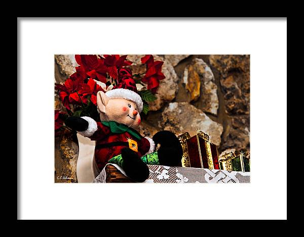 Christmas Framed Print featuring the photograph Elf On Shelf by Christopher Holmes