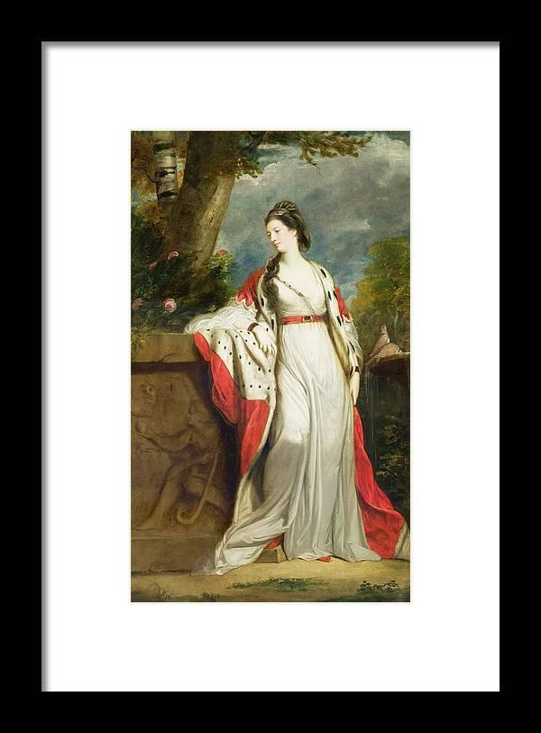 Elizabeth Framed Print featuring the painting Elizabeth Gunning - Duchess Of Hamilton And Duchess Of Argyll by Sir Joshua Reynolds