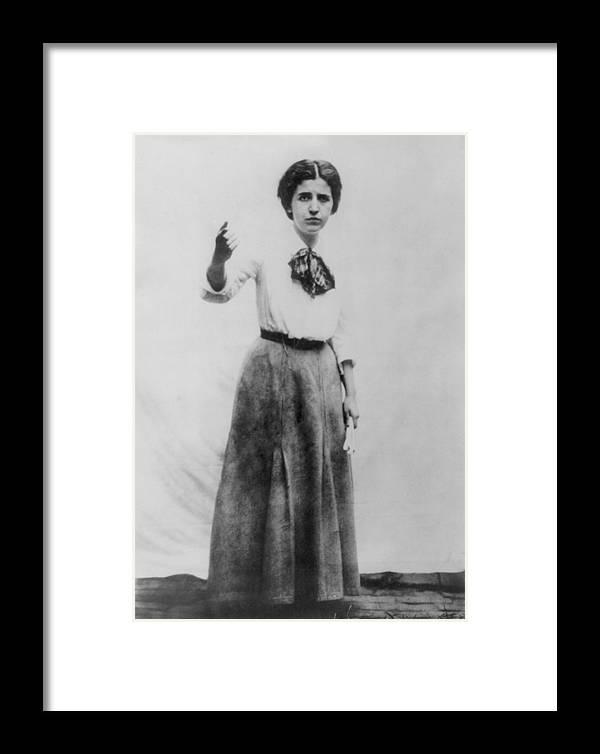 History Framed Print featuring the photograph Elizabeth Gurley Flynn 1890-1964, Labor by Everett