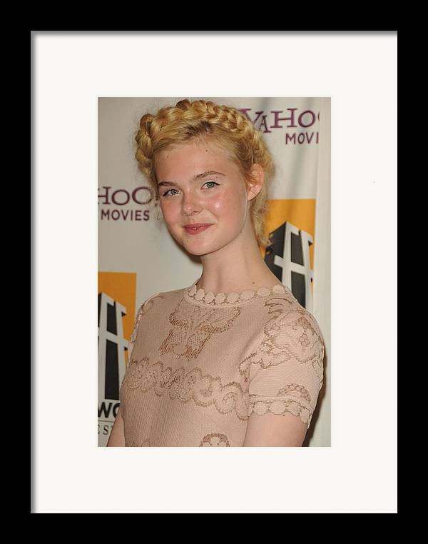Elle Fanning Framed Print featuring the photograph Elle Fanning At Arrivals For 15th by Everett