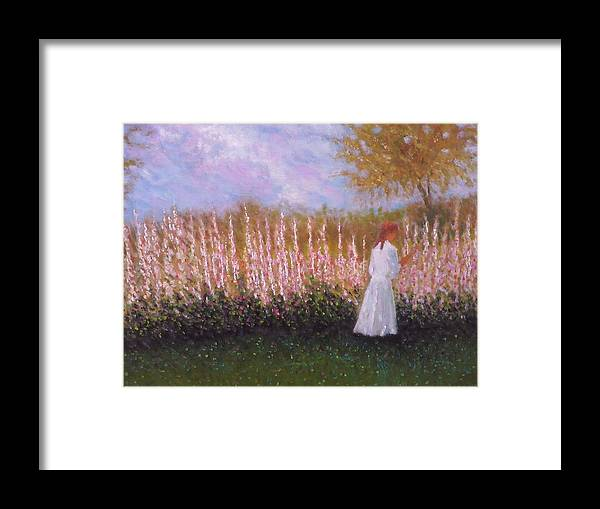 Child Framed Print featuring the painting Ellie by Michael Odom