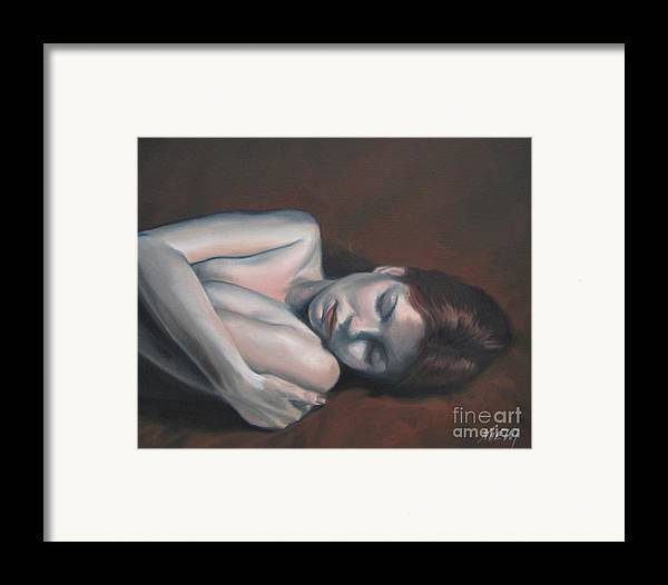 Noewi Framed Print featuring the painting Embrace by Jindra Noewi