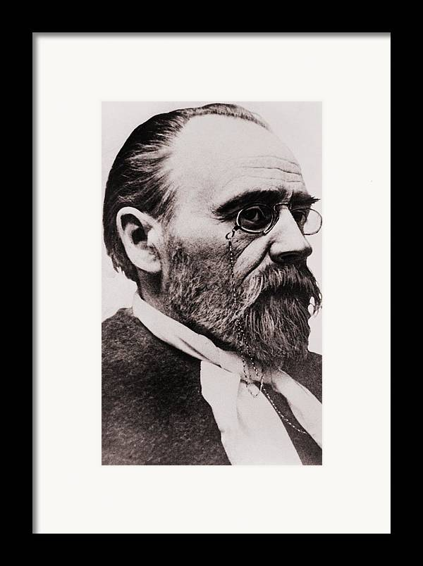 Historical Framed Print featuring the photograph Emile Zola 1840-1902, French Novelist by Everett