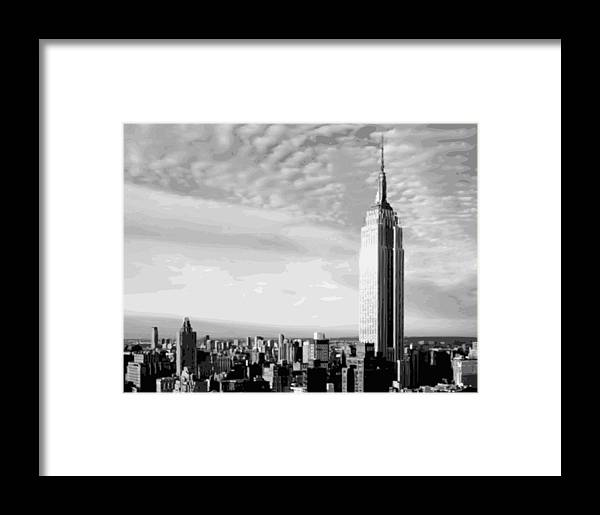 Empire State Building Framed Print featuring the photograph Empire State Building Bw16 by Scott Kelley