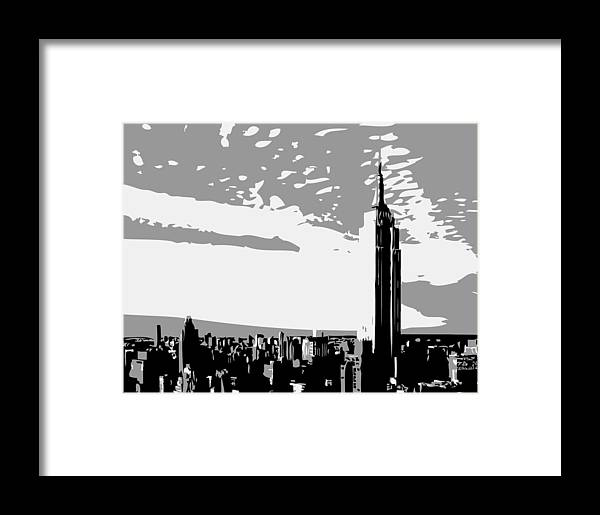 New York Framed Print featuring the photograph Empire State Building Bw3 by Scott Kelley