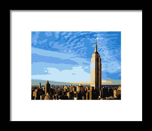 Empire State Building Framed Print featuring the photograph Empire State Building Color 16 by Scott Kelley
