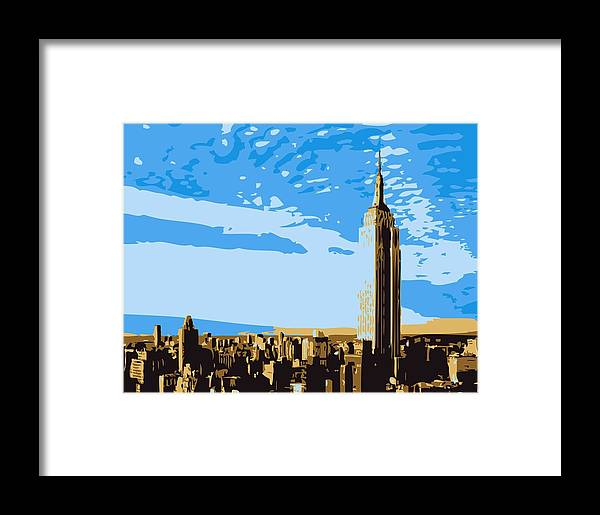 Empire State Building Framed Print featuring the photograph Empire State Building Color 6 by Scott Kelley