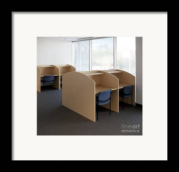 Architecture Framed Print featuring the photograph Empty Carrels by Will & Deni McIntyre