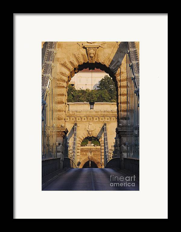 Arched Framed Print featuring the photograph Empty Stone Bridge by Jeremy Woodhouse