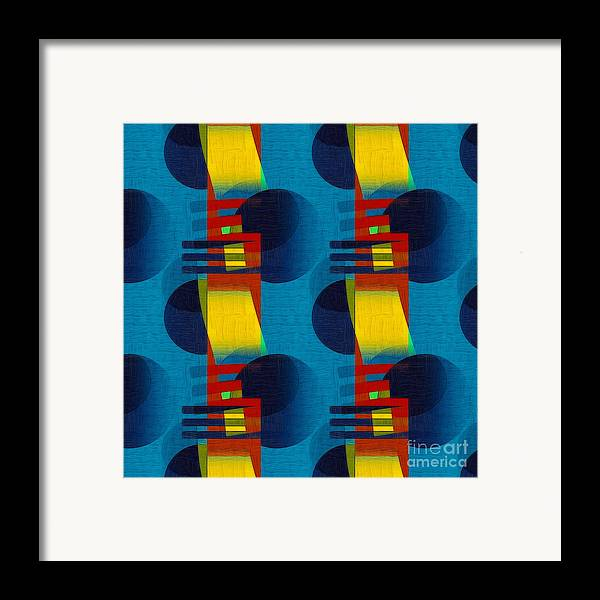 Abstract Framed Print featuring the digital art En Formes 01f by Aimelle