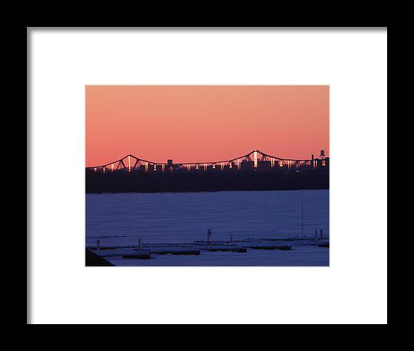 Bridge Framed Print featuring the photograph Encased in Ice by Helen ONeal