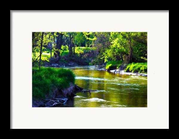 Enchanted Framed Print featuring the photograph Enchanted River by Rebecca Frank