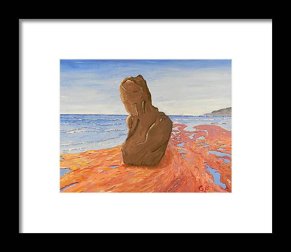 Statue Framed Print featuring the painting Enduring Woman by Gilbert Bernhardt