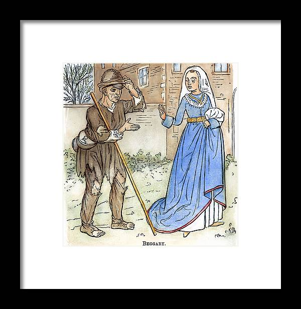1330 Framed Print featuring the photograph English Beggar, 1330 by Granger