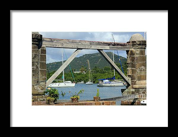 English Harbor Framed Print featuring the photograph English Harbor by Sophie Vigneault