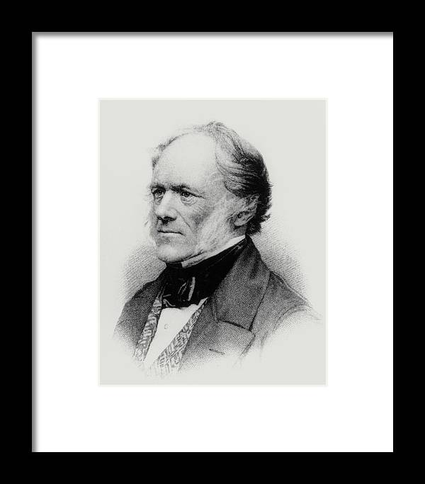 Lyell Framed Print featuring the photograph Engraving Of English Geologist Sir Charles Lyell by Dr Jeremy Burgess