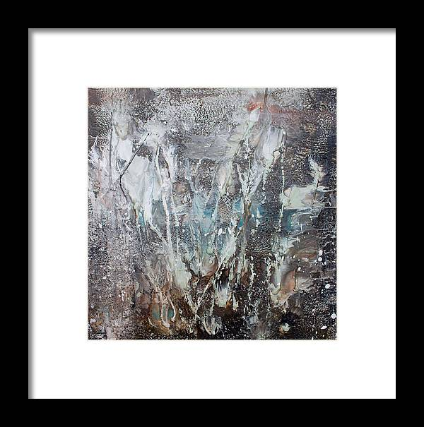 Encaustic Framed Print featuring the painting Enigmatic by Shannon Elliott