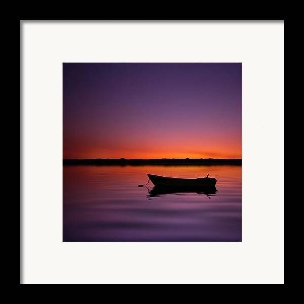Square Framed Print featuring the photograph Enjoying Serenity by Carlos Gotay
