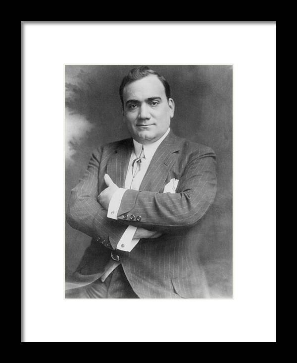 History Framed Print featuring the photograph Enrico Caruso 1873-1921, The Great by Everett