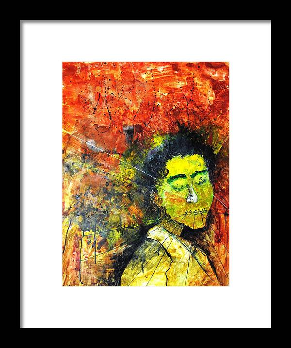 Enslaved Framed Print featuring the painting Enslaved by Mayank Gupta