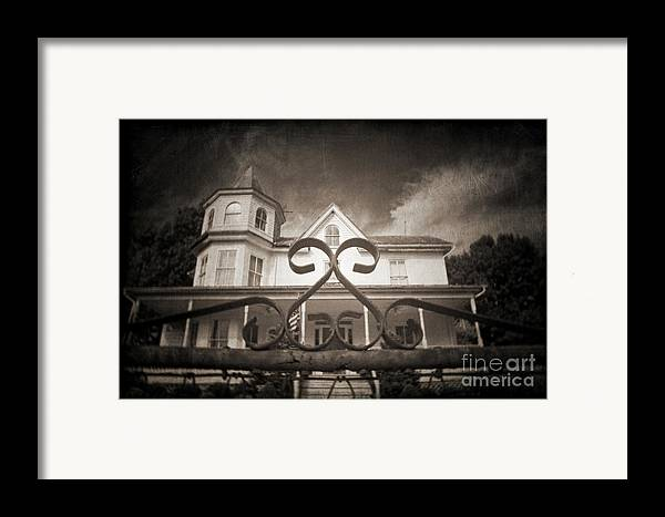 Gate Framed Print featuring the photograph Enter If You Dare by Jane Brack