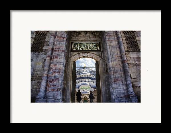 Gate Framed Print featuring the photograph Enter by Joan Carroll