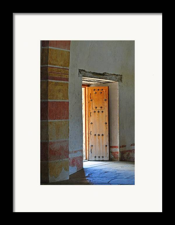 Door Framed Print featuring the photograph Enter Life by Peter McIntosh