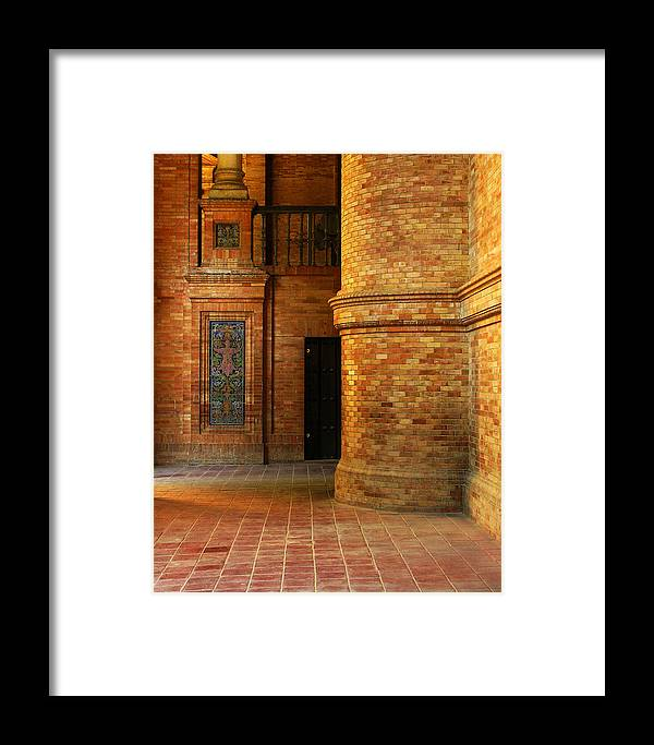 Spain Framed Print featuring the photograph Entry To The Spanish Pavillion In Sevilla Spain by Greg Matchick